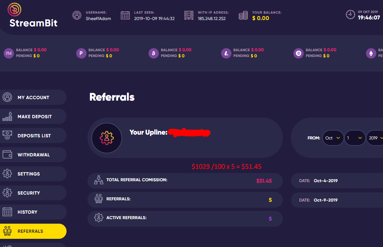 StreamBit screenshot